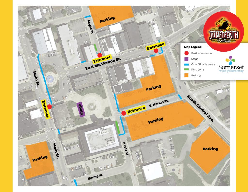 Juneteenth Festival Map 2021